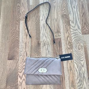 Steve Madden nude/gray satchel - new with tags